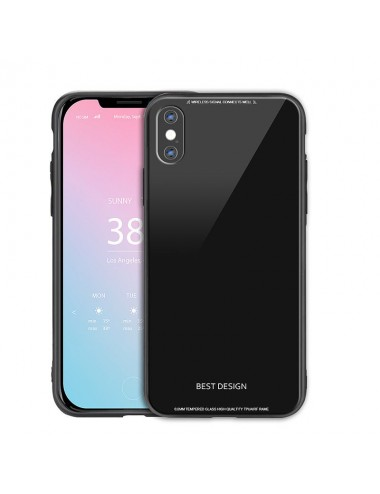 IPHONE X TEMPERED GLASS CASE SOFT TPU BACK COVER