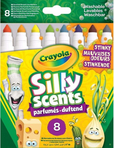 CRAYOLA 8 SILLY SCENTS STINKY MARKERS