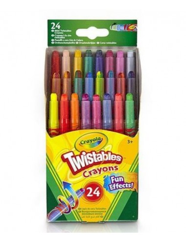 CRAYOLA 24 MINI TWISTABLES SPECIAL EFFECT CRAYONS