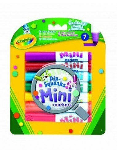 CRAYOLA-MINI PIP SQUEAK MARKERS-PACK OF 7